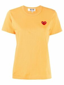 Comme Des Garçons Play logo embroidered crew neck T-shirt - Yellow