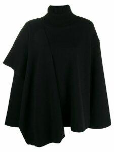 Juun.J oversized asymmetric knit top - Black