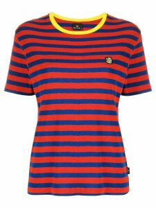 PS Paul Smith logo patch striped T-shirt - Red