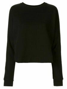 Ann Demeulemeester boxy round neck sweatshirt - Black