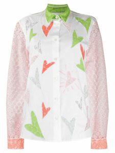 Viktor & Rolf Heart To Heart embroidered shirt - White