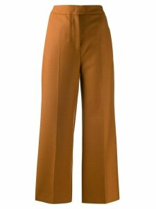 Pt01 high-rise wide-leg cropped trousers - ORANGE