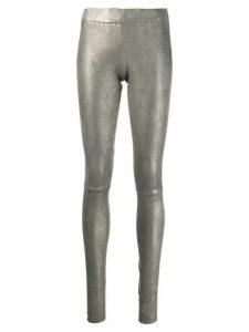 Sylvie Schimmel Funplume coated leggings - Metallic