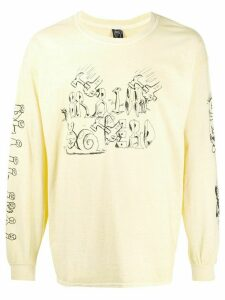 Brain Dead logo print long sleeve top - Yellow
