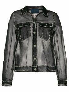 Viktor & Rolf transparent denim jacket - Black
