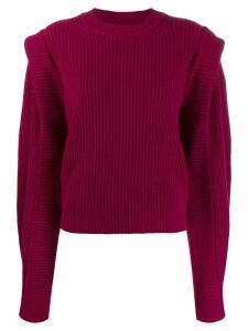 Isabel Marant shoulder-panel ribbed jumper - Pink