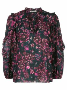 Ulla Johnson floral shift blouse - Blue