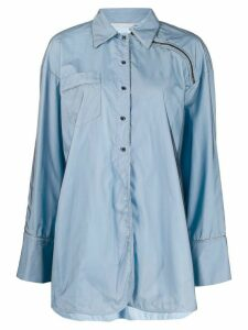 Marco De Vincenzo shoulder-zip oversized shirt - Blue