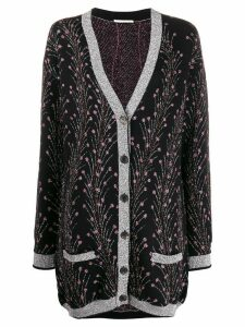 Marco De Vincenzo metallic-thread knit cardigan - Black