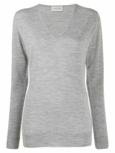 John Smedley long-sleeve fitted jumper - Grey