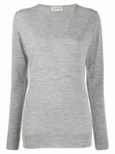 John Smedley Orchid v-neck jumper - Grey