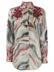 Roberto Cavalli Sistine Chapel print blouse - PINK