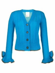 Marco De Vincenzo elongated-sleeves cardigan - Blue