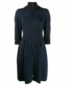 Dorothee Schumacher flared zip neck dress - Blue