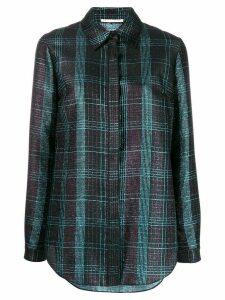 Marco De Vincenzo metallic-effect tartan shirt - Black
