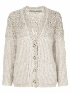 Raquel Allegra relaxed-fit knitted cardigan - Neutrals