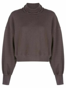 AGOLDE turtle-neck oversized sweatshirt - Black