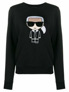 Karl Lagerfeld embroidered Karl sweatshirt - Black