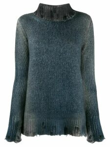 Avant Toi distressed knit jumper - Blue