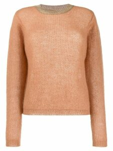 Guardaroba metallic detail ribbed knit sweater - Neutrals