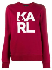 Karl Lagerfeld Karl Square Logo sweashirt - Red