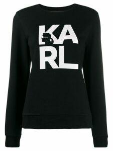 Karl Lagerfeld logo print sweatshirt - Black