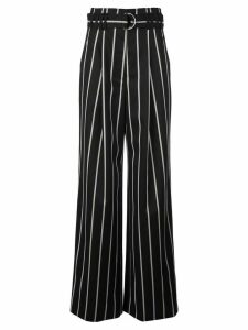Proenza Schouler belted striped pants - Black