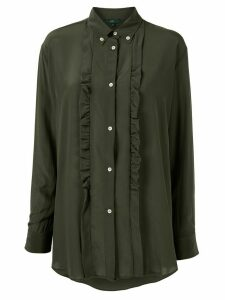 Jejia ruffle long-sleeve shirt - Green