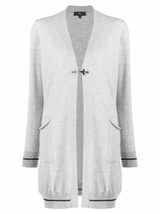 Fay longline toggle cardigan - Grey