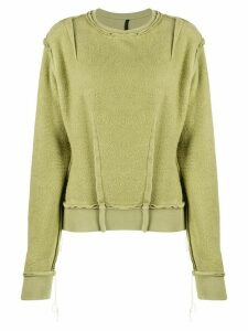 Unravel Project reverse-effect sweatshirt - Green