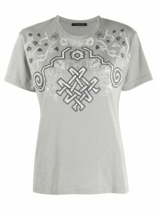 Mr & Mrs Italy logo print T-shirt - Grey