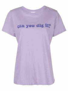 Cinq A Sept can you dig it? printed T-shirt - PURPLE