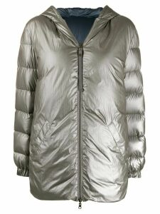 Mr & Mrs Italy reversible hooded down coat - Grey