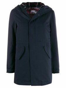 Mr & Mrs Italy reversible hooded coat - Blue