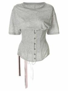 UNRAVEL PROJECT corset bodice T-shirt - Grey
