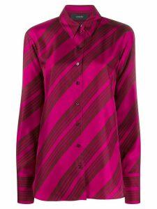 Joseph striped button-down shirt - PINK