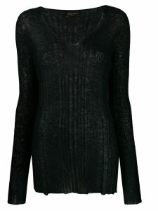 Roberto Collina fine knit jumper - Black