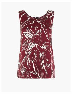 M&S Collection Satin Printed Vest Top