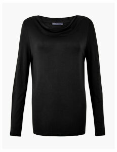 M&S Collection Cowl Neck Slim Fit Top