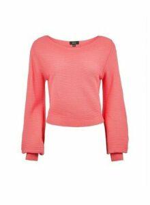 Womens Lola Skye Pink Blouson Jumper, Pink