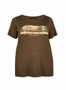 Womens **Dp Curve Khaki Desert T-Shirt- Brown, Brown
