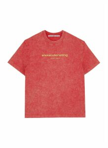 x Lane Crawford logo embroidered acid wash unisex T-shirt
