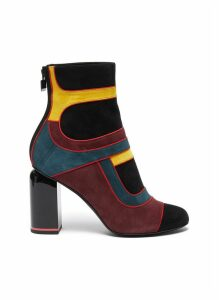 'Machina' suede patchwork ankle boots