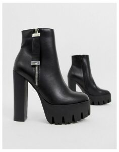 Truffle Collection chunky high platform boots in black