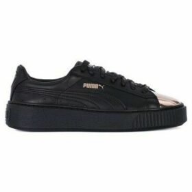 Puma  Basket Platform Metallic  women's Shoes (Trainers) in Black