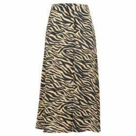 Cuplé  Animal printed long skirt  women's Skirt in Black