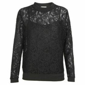 Cuplé  Long sleeve lace blouse  women's Blouse in Black