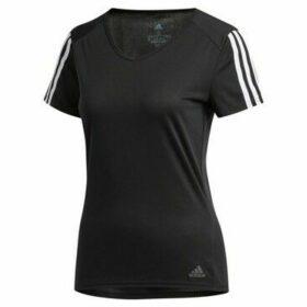 adidas  Run 3S Tee W  women's T shirt in Black