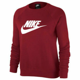 Nike  Camiseta m/lNSW ESSNTL CREW FLC HBR  women's Sweatshirt in Red