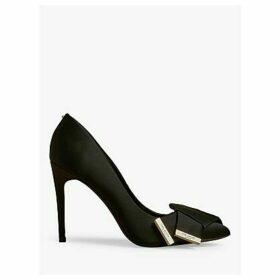 Ted Baker Inesi Satin Stiletto Heel Court Shoes, Black